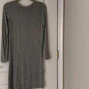 Mango light sweater dress